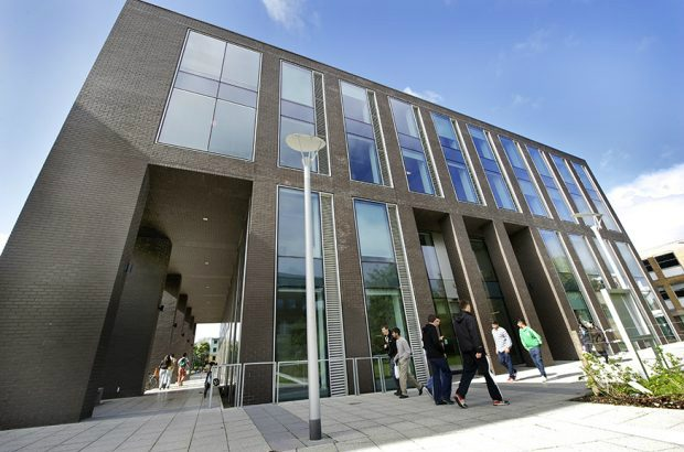 View of Lancaster University Management School.