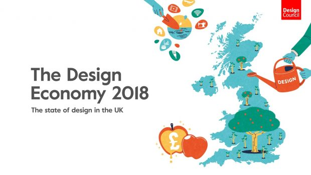 Logo for the Design Economy 2018.