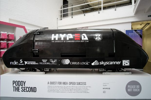 Hyperloop pod designed by HYPED.